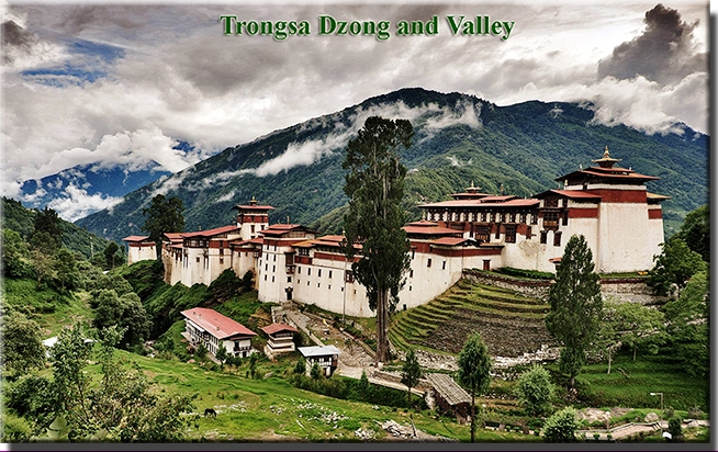 Trongsa Dzong and Valley