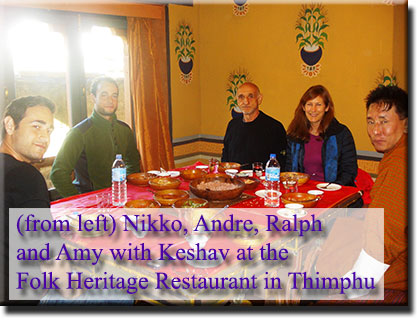 Nikko, Andre, Ralph and Amy with Keshav at Folk Heritage Museum's Restaurant, 2nd December 2013