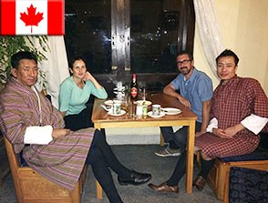 Please click here to enlarge photo of Honeymooning Canadian Diplomats to Bhutan through Bhutan Rebirth